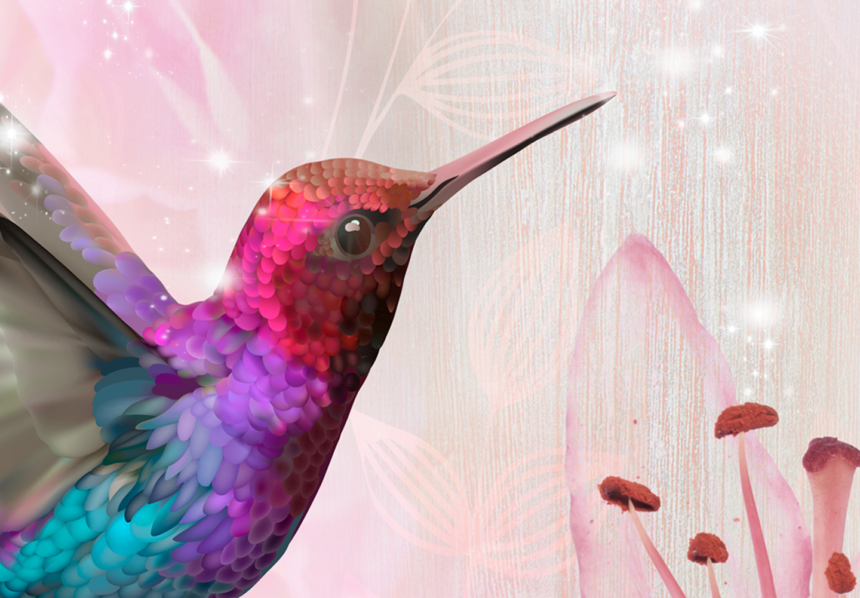 Wandbilder xxl Kolibri Vogel Blumen Leinwand Bilder Wohnzimmer g-C-0069-b-f
