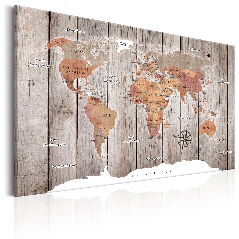 Wandbilder Weltkarte Holz Leinwand Bilder Xxl Landkarte Kunstdruck