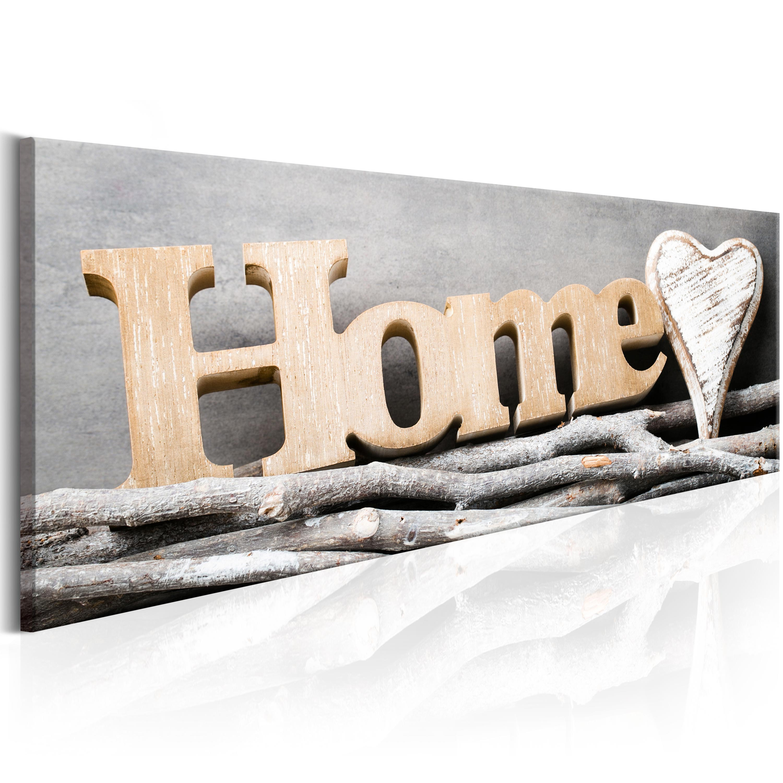 wandbilder xxl home sweet home herz leinwand bilder wohnzimmer m b 0030 b a ebay. Black Bedroom Furniture Sets. Home Design Ideas