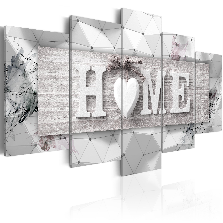 Wandbilder xxl Wohnzimmer Home Herz abstraktes Leinwand Bilder 3D ...