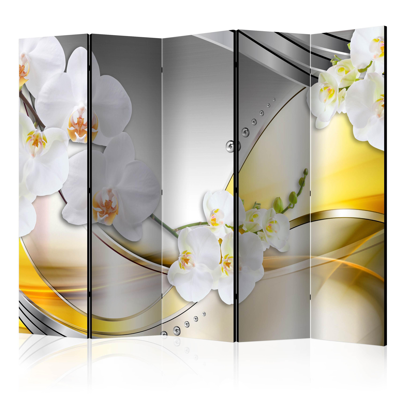 Deko paravent raumteiler trennwand foto abstrakt blumen 10 for Deko trennwand
