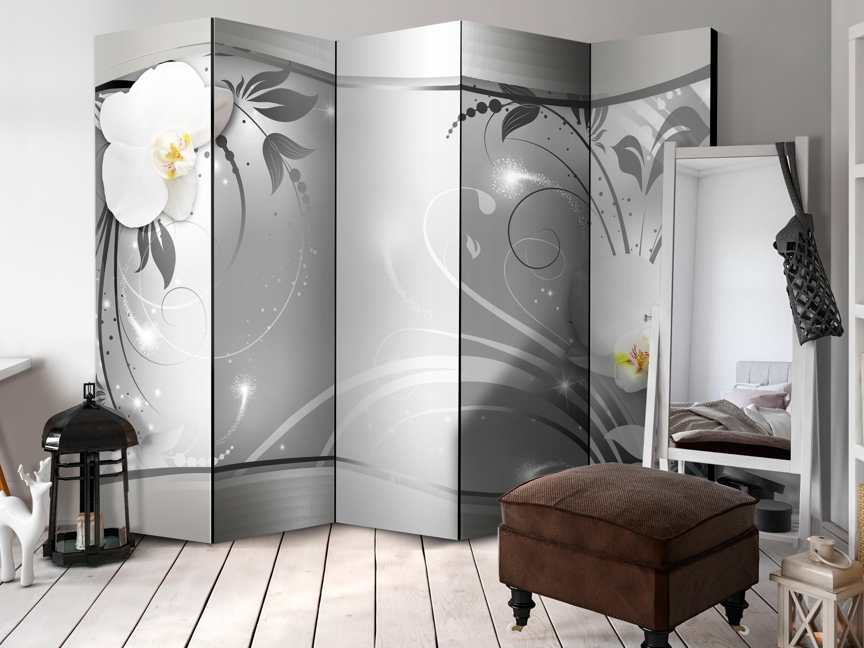 Deko Paravent Raumteiler Trennwand Spanische Wand Blume Orchidee 2 Formate