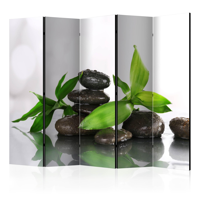 Deko paravent raumteiler trennwand spa zen natur steine 10 for Deko trennwand