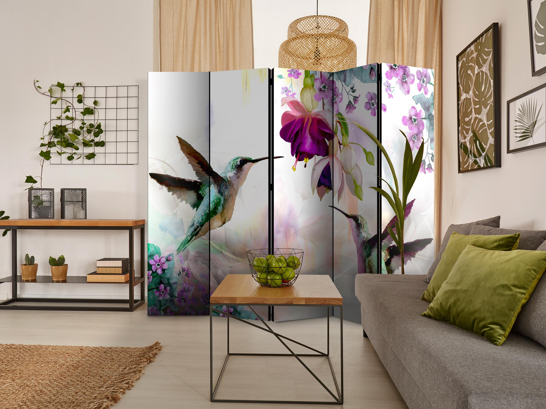 Deko Paravent Raumteiler Trennwand Spanische Wand Mosaik schwarz weiß 2 Formate