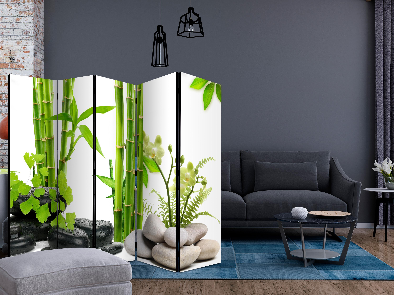 Deko Paravent Raumteiler Bambus SPA Trennwand Spanische Wand 2 Formate b-C-0230