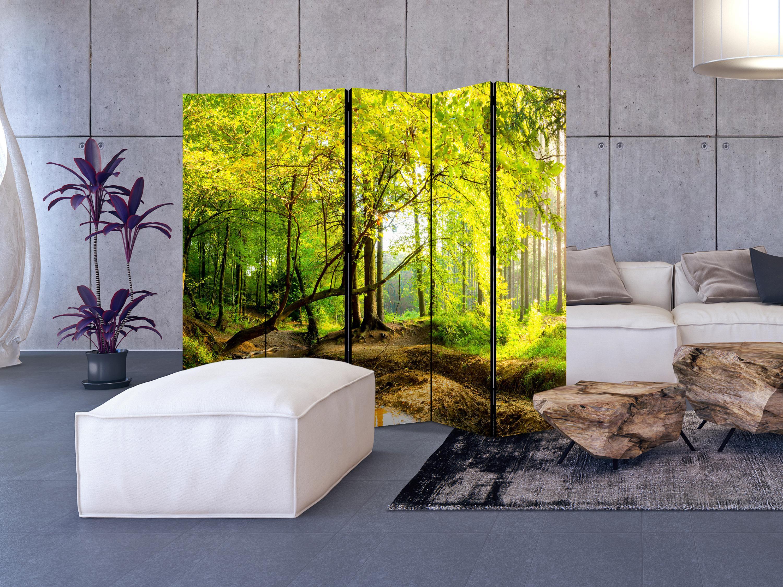 Deko paravent raumteiler trennwand spanische wand wald landschaft 2 formate ebay - Spanische trennwand ...