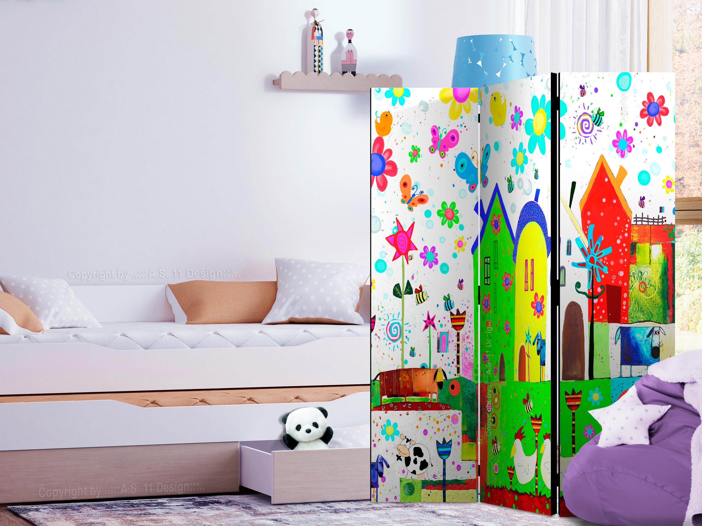 Hochwertig Raumteiler Fuer Kinder Deko Paravent Trennwand Kinderzimmer 2