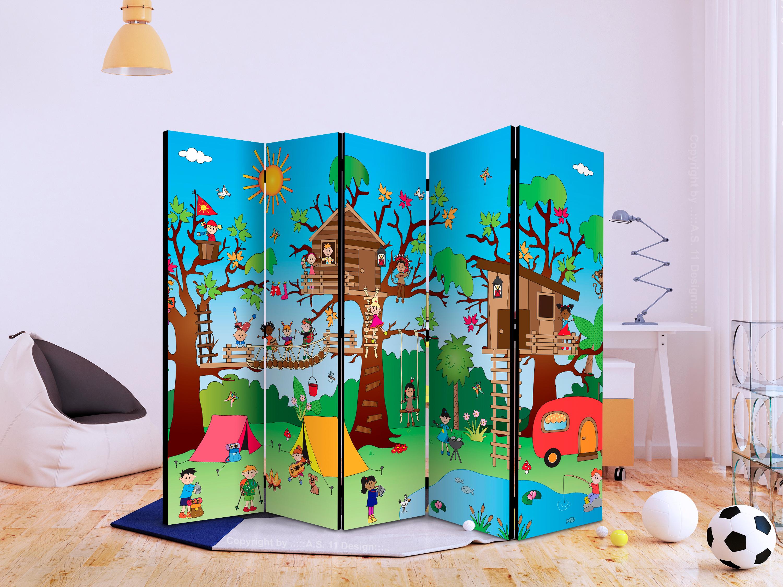 Raumteiler für Kinder Deko Paravent Trennwand Kinderzimmer 2 Formate e-B-0031-z