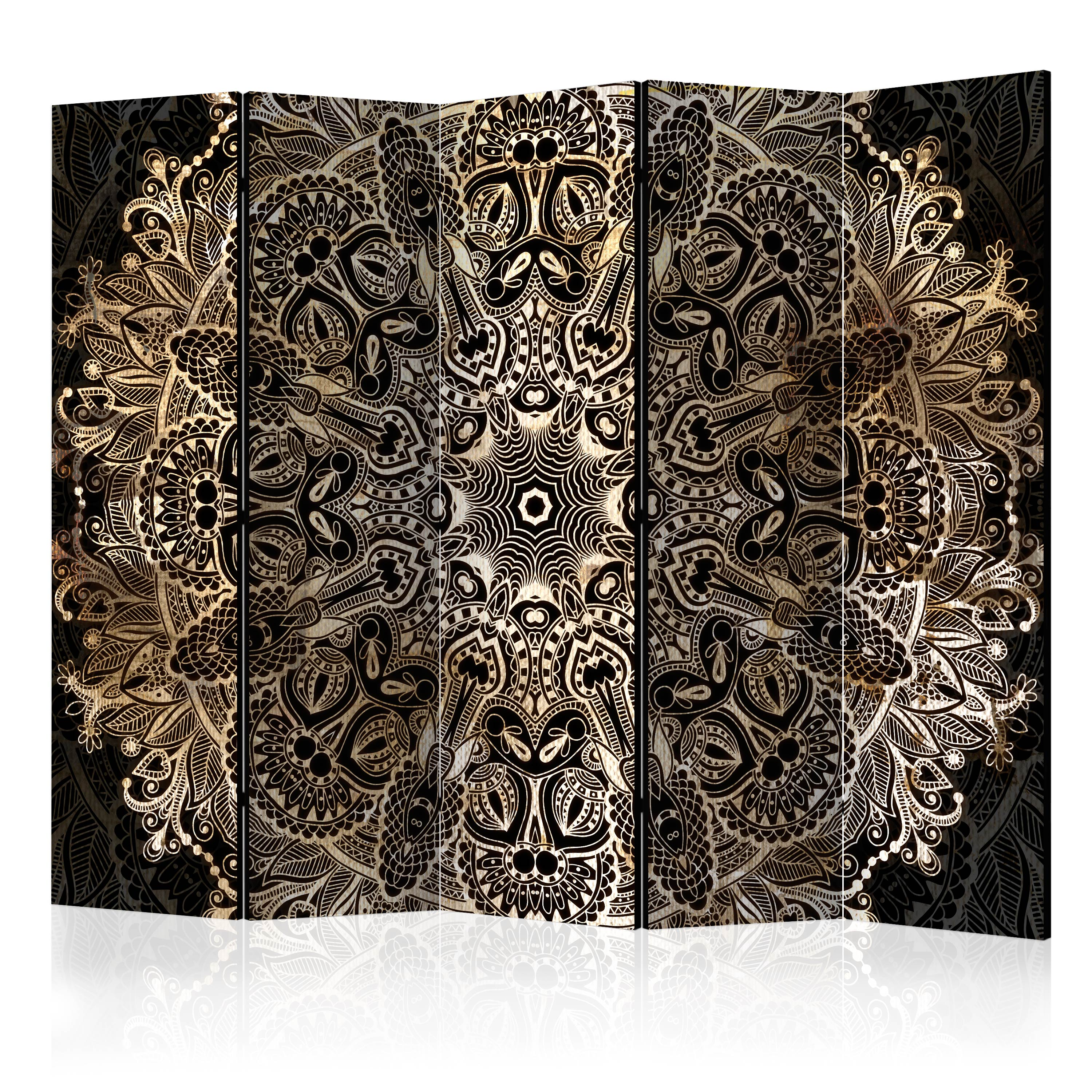 deko paravent raumteiler trennwand mandala orient ornament. Black Bedroom Furniture Sets. Home Design Ideas