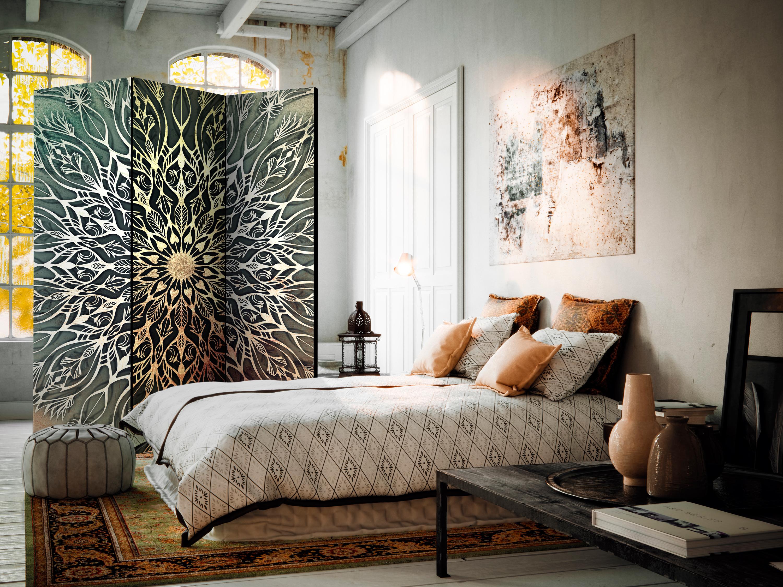 Deko Paravent Raumteiler Trennwand Spanische Wand Mandala Orient 2 Formate 0662