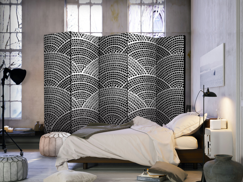 Deco biombo separación de español espacios tabique español de pared mosaico negro blanco 2 formatos e64f65