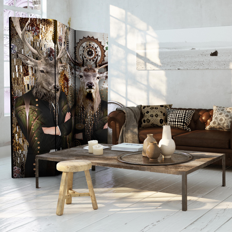 Deko paravent raumteiler trennwand spanische wand hirsch abstrakt 2 formate ebay - Deko raumteiler ...