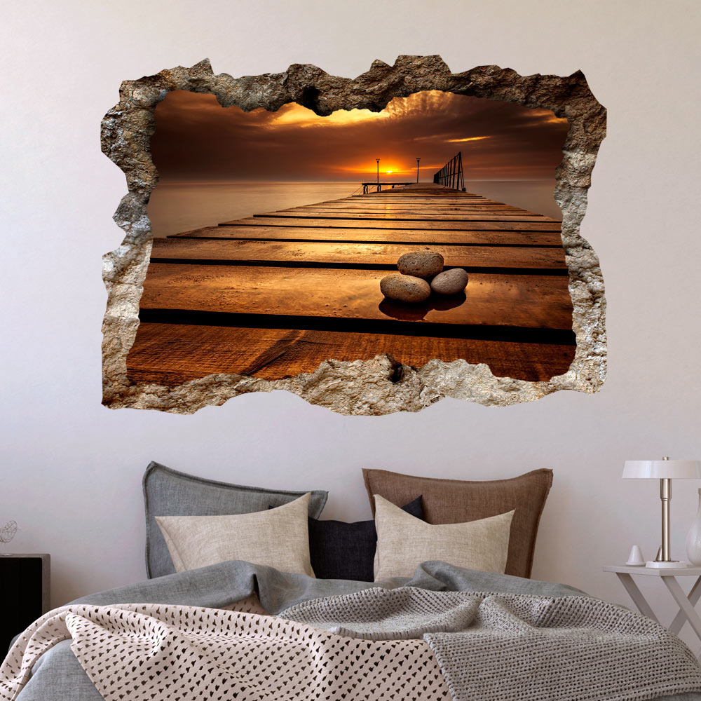 3d wandillusion wandbild fototapete poster xxl loch in der wand c b 0224 t a ebay. Black Bedroom Furniture Sets. Home Design Ideas