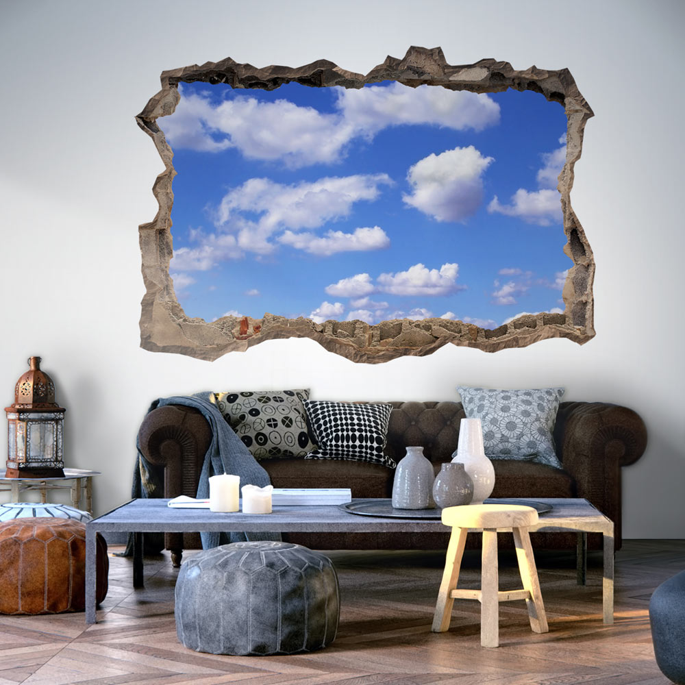 3d wandillusion wandbild fototapete poster xxl loch in der. Black Bedroom Furniture Sets. Home Design Ideas