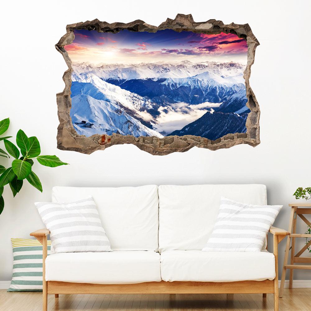 3d wandillusion wandbild fototapete poster xxl loch in der wand c c 0104 t a ebay. Black Bedroom Furniture Sets. Home Design Ideas