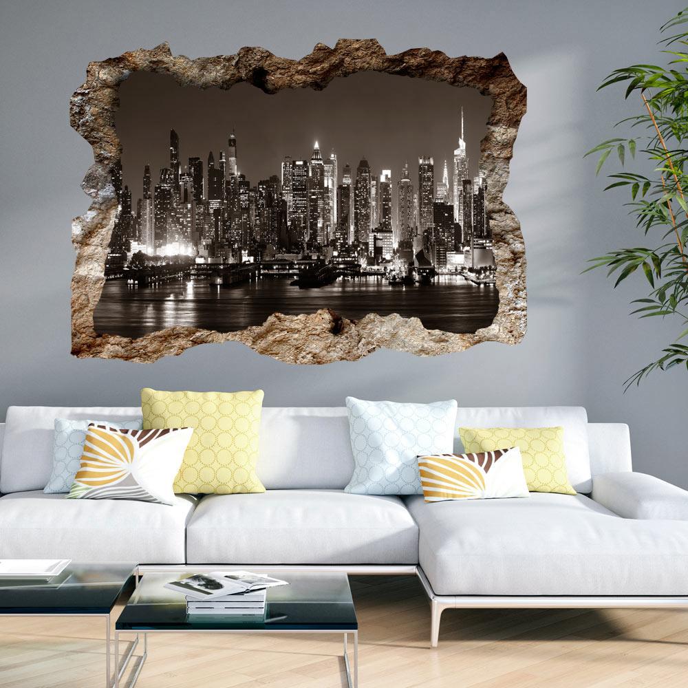 3d wandillusion wandbild fototapete poster xxl loch in der wand c b 0224 t a ebay. Black Bedroom Furniture Sets. Home Design Ideas