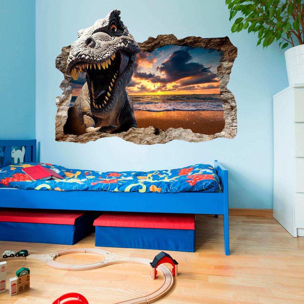 3d wandillusion wandbild fototapete poster xl dinosaurier loch wand g c 0038 t a ebay. Black Bedroom Furniture Sets. Home Design Ideas