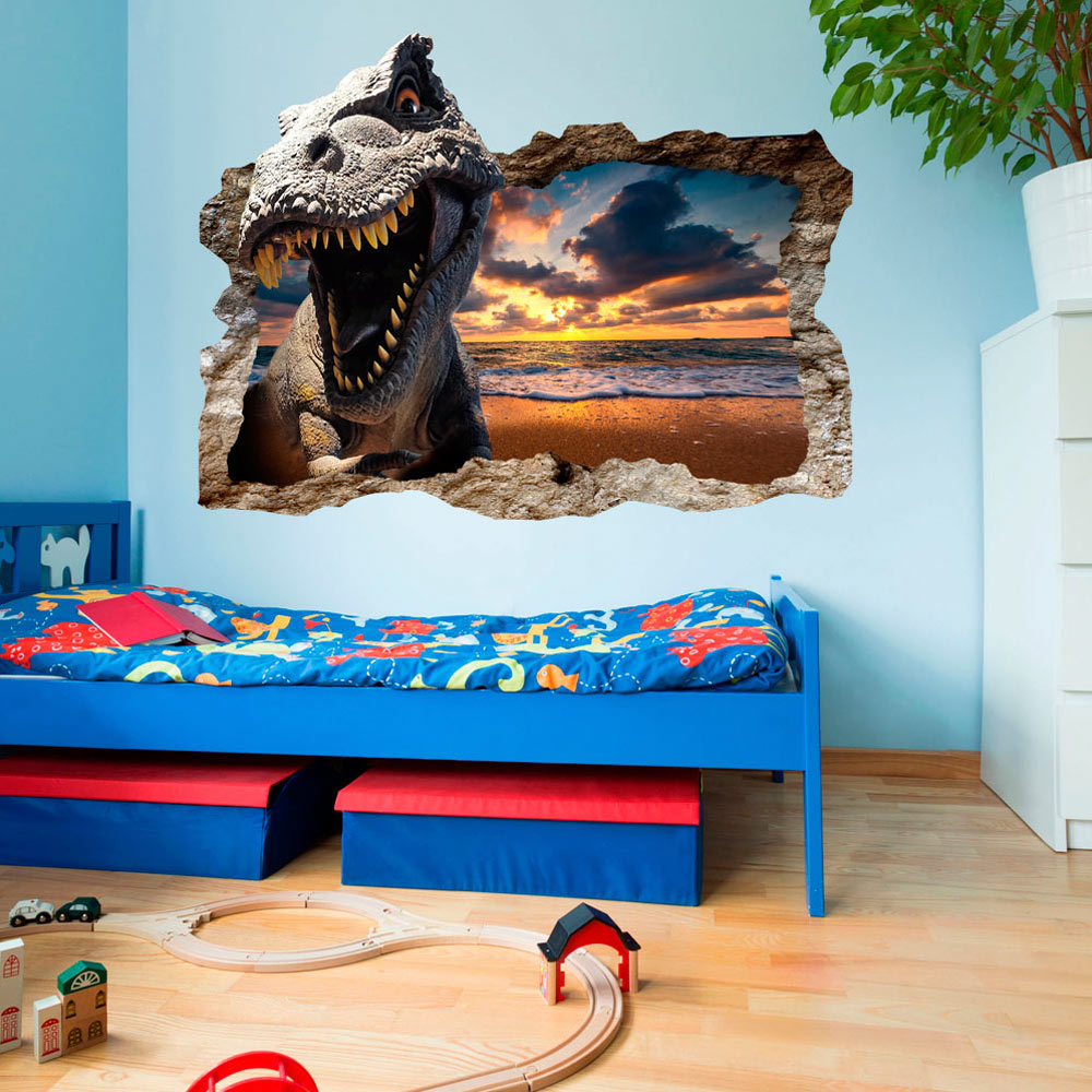 3d wandillusion wandbild fototapete poster xl dinosaurier. Black Bedroom Furniture Sets. Home Design Ideas