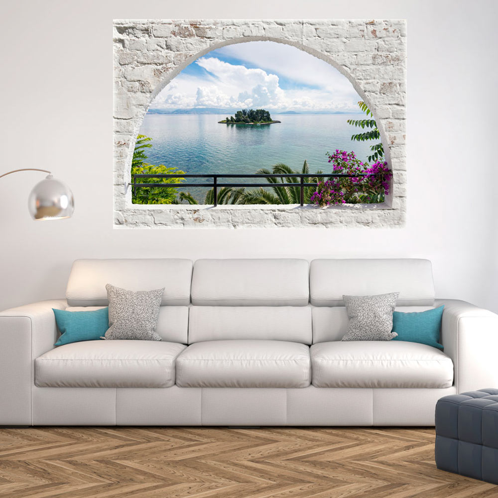 3d wall illusion wallpaper mural photo print a window view for 3d mural wallpaper