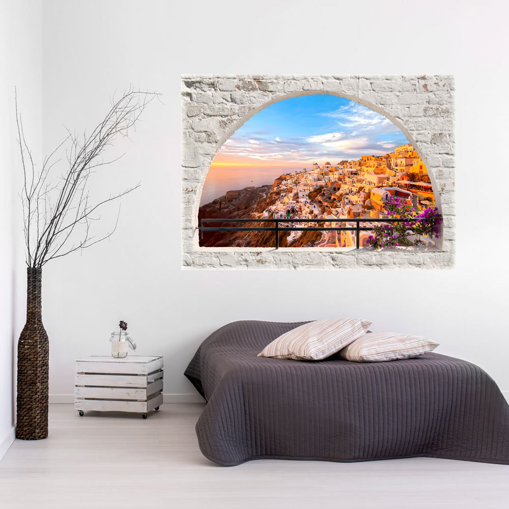 3d wall illusion wallpaper mural photo print a window view for 3d wall mural pictures