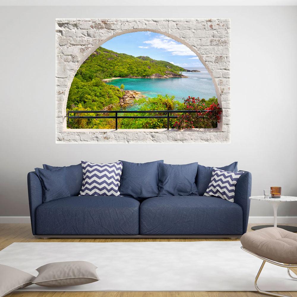 3d wall illusion wallpaper mural photo print a window view - Illusion wallpaper for walls ...