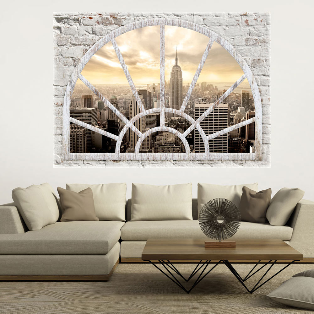 3d wall illusion wallpaper mural photo print a window view for Mural 3d wallpaper