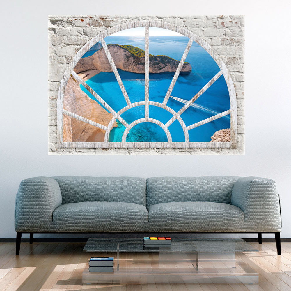 3d wall illusion wallpaper mural photo print a window view for 3d mural wall