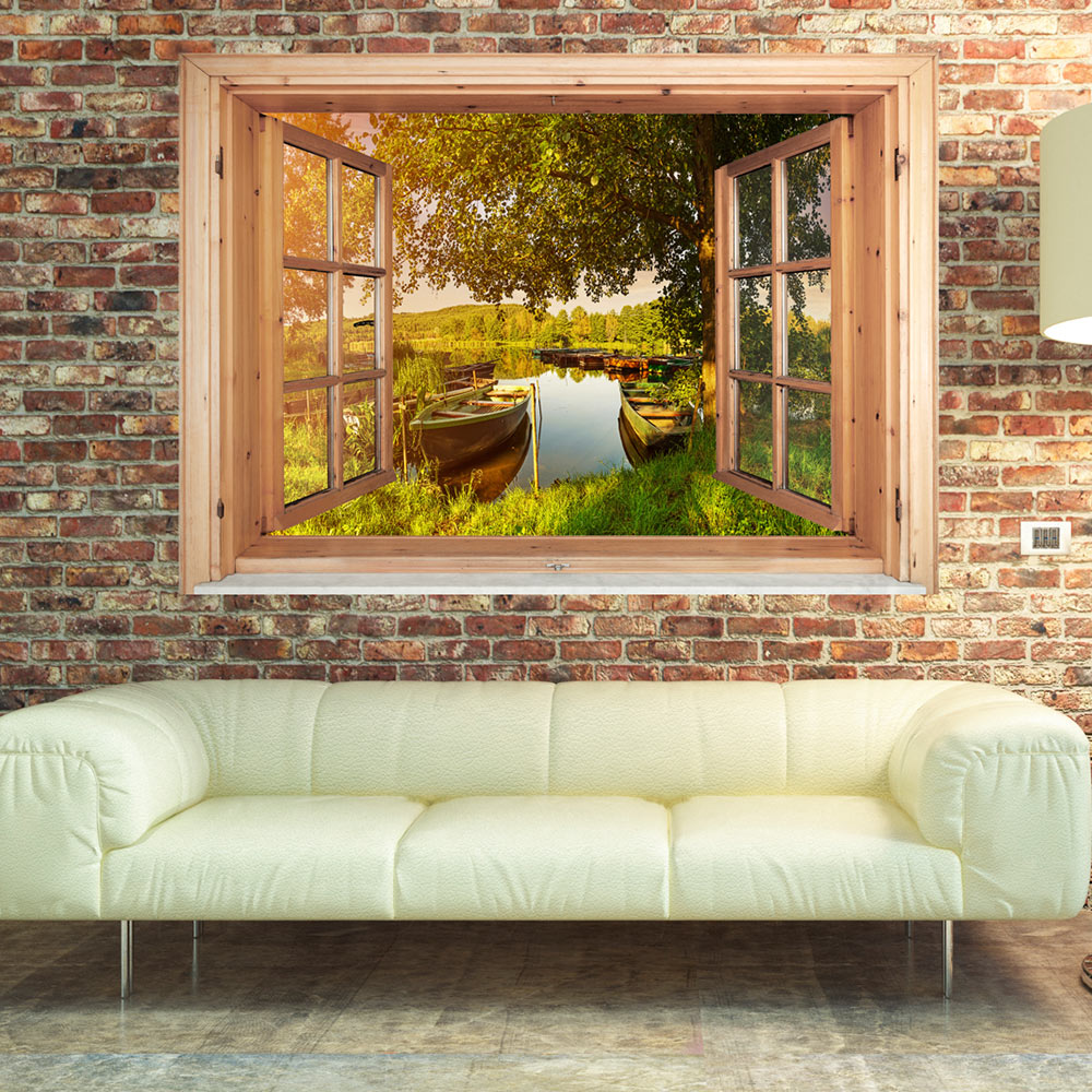 3d wandillusion wandbild fototapete poster xxl fensterblick vlies c c 0094 c a ebay. Black Bedroom Furniture Sets. Home Design Ideas