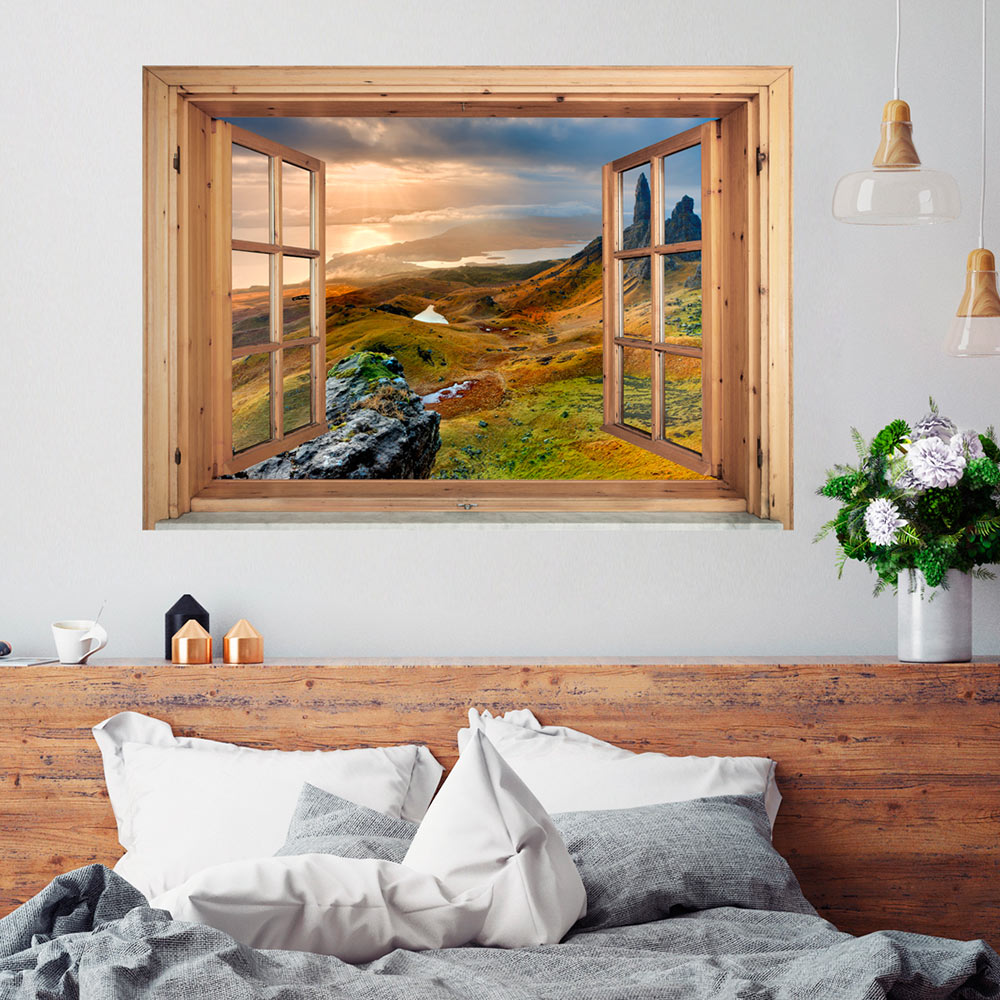 3d wandillusion wandbild fototapete poster xxl fensterblick vlies c c 0094 c a ebay. Black Bedroom Furniture Sets. Home Design Ideas