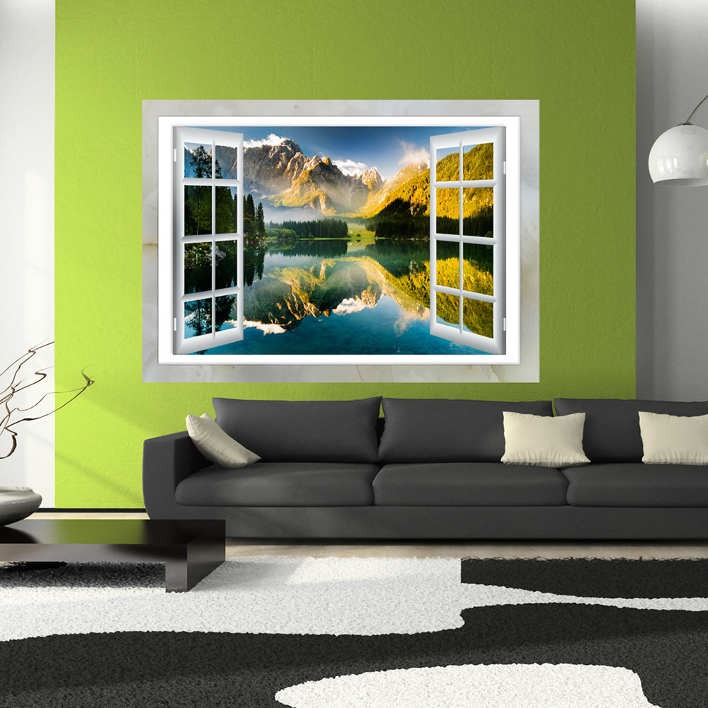 3d wandillusion wandbild fototapete poster xxl fensterblick vlies c c 0124 c a ebay. Black Bedroom Furniture Sets. Home Design Ideas