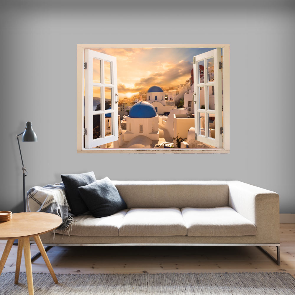 3d Wall Illusion Wallpaper Mural Photo Print A Hole In The