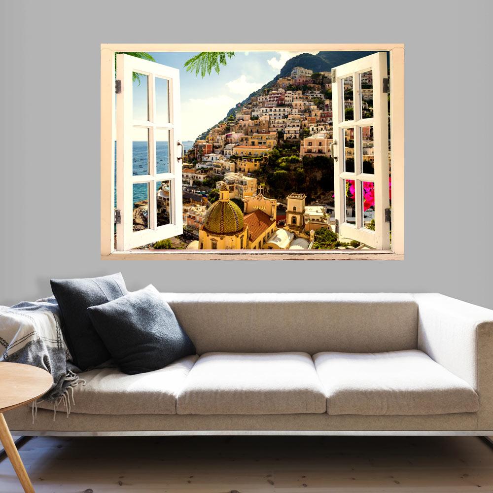3d illusione ottica fotomurali buco nella parete con. Black Bedroom Furniture Sets. Home Design Ideas