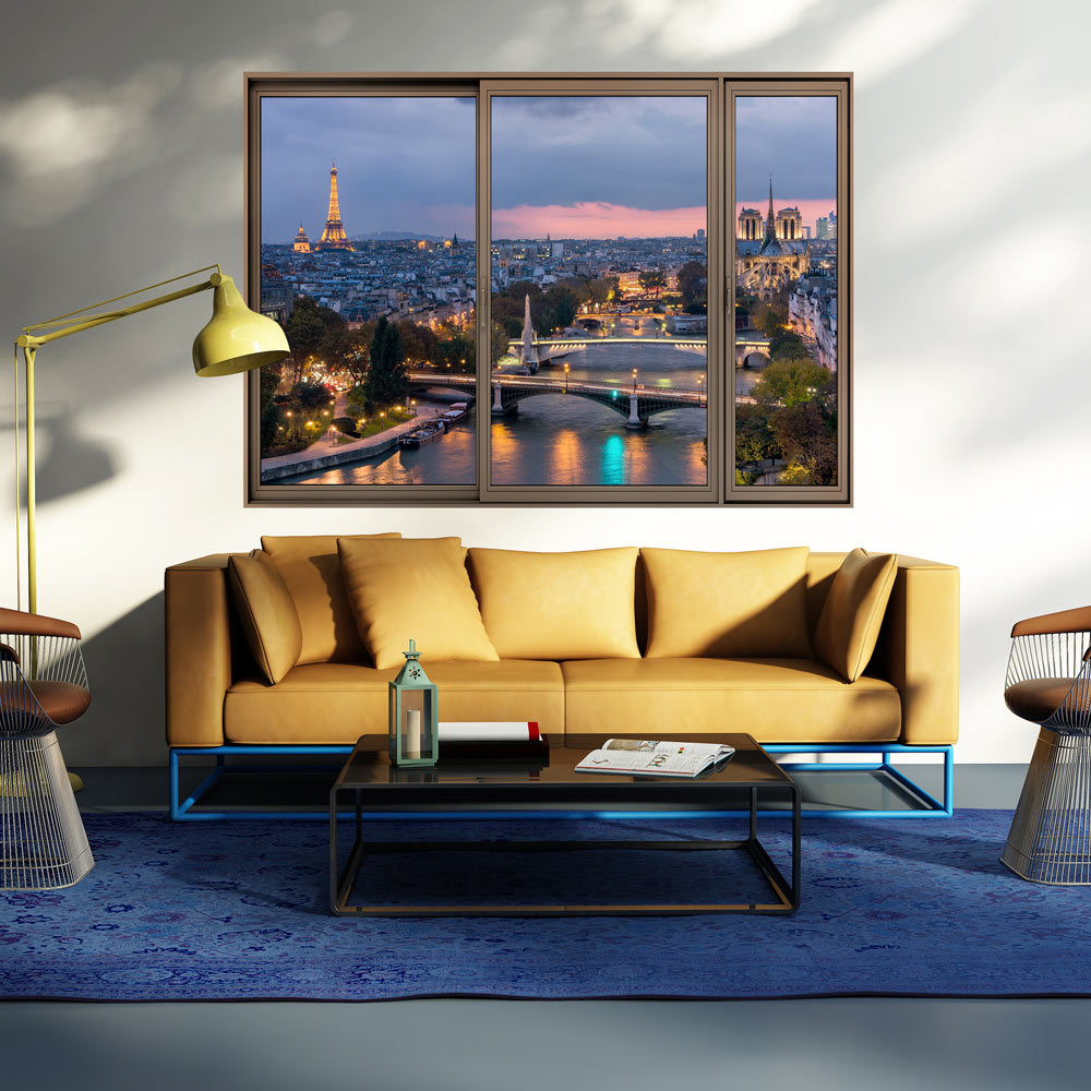 3d wandillusion wandbild fototapete poster xxl fensterblick vlies c c 0070 c a ebay. Black Bedroom Furniture Sets. Home Design Ideas