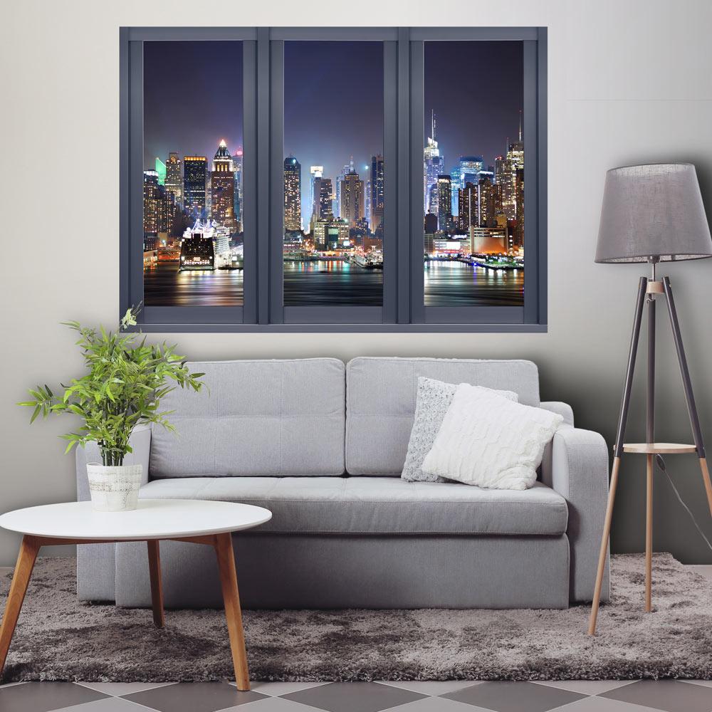 3d illusion d 39 39 optique vue depuis la fenetre papier peints. Black Bedroom Furniture Sets. Home Design Ideas