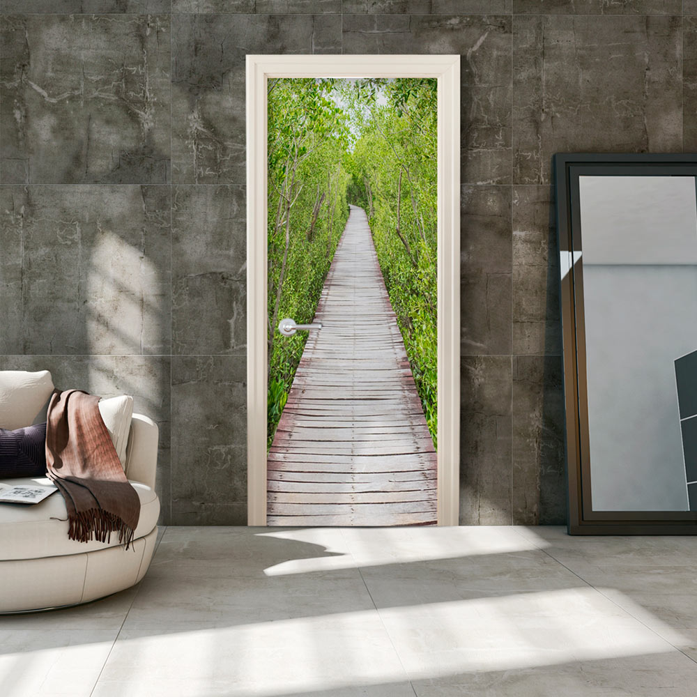 Fotomurale per porta - The Path of Nature 100X210 cm