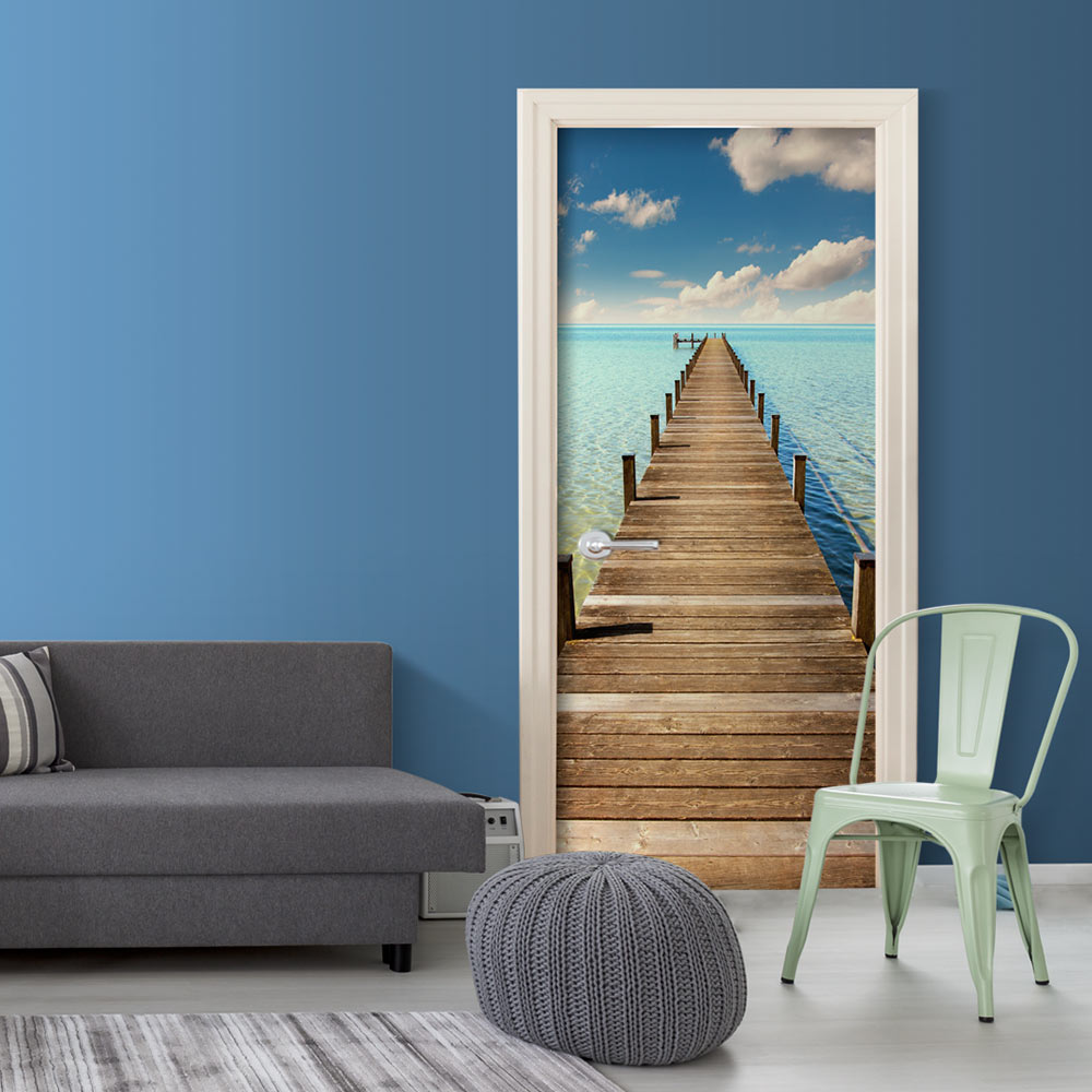 Fotomurale per porta - Turquoise Harbour 90X210 cm