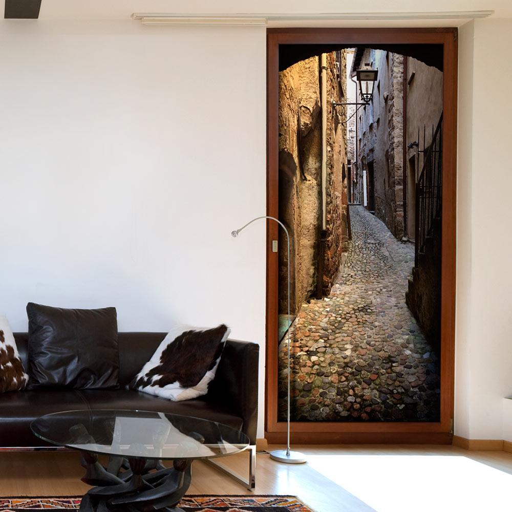 Fotomurale per porta - Stony City 90X210 cm