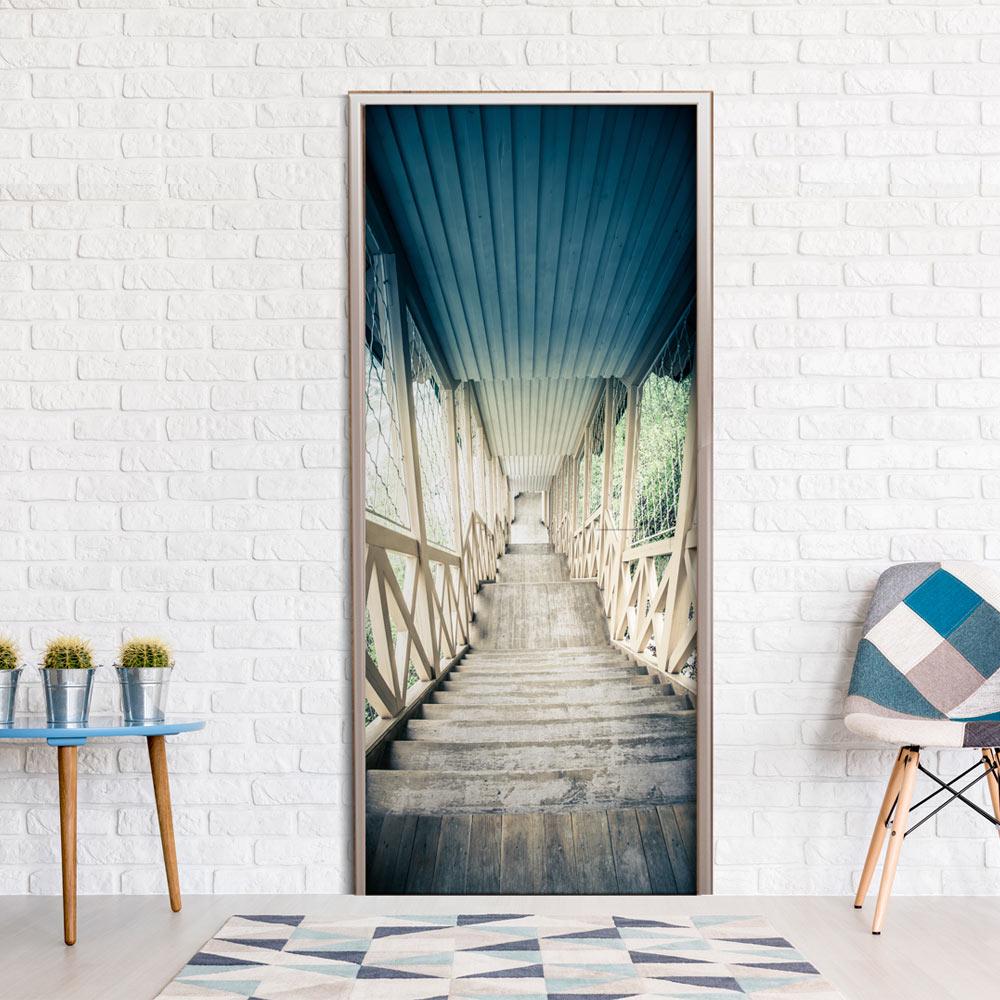 Fotomurale per porta - Wooden Vintage Stairway 70X210 cm