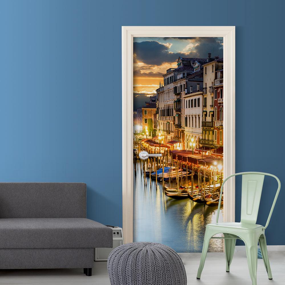 Fotomurale per porta - Venetian Harbour 90X210 cm