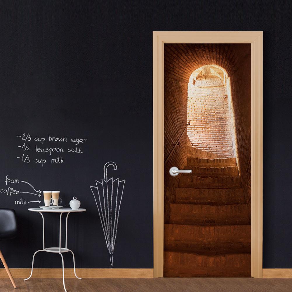 Fotomurale per porta - Secret Stairs 90X210 cm