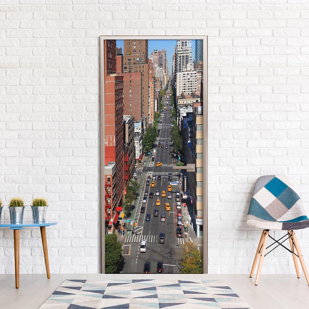 Fotomurale per porta - City Life 100X210 cm