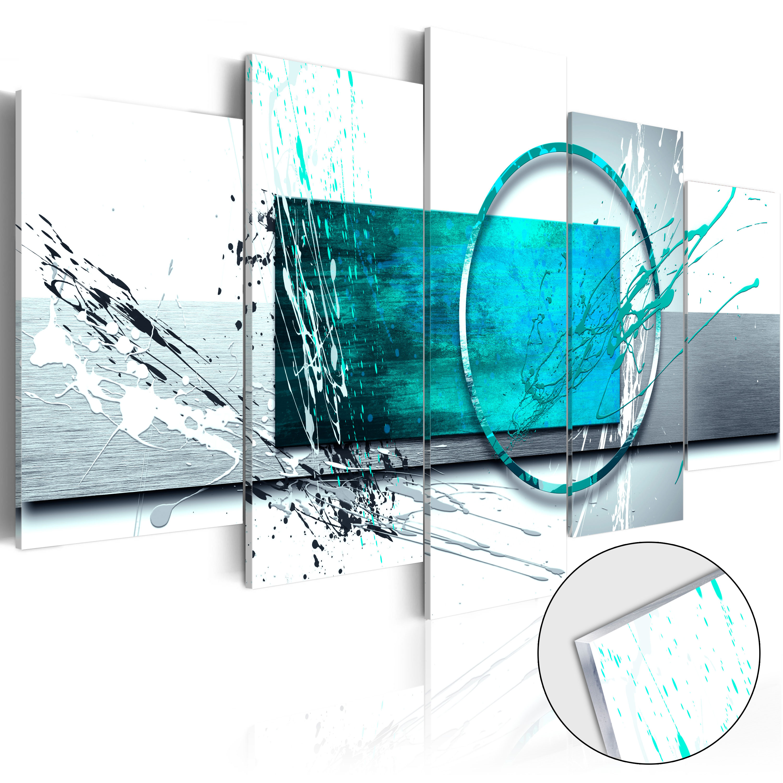 Quadri su vetro acrilico - Turquoise Expression [Glass] 200X100 cm