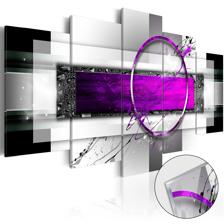 Quadri su vetro acrilico - Violet Rim [Glass] 200X100 cm
