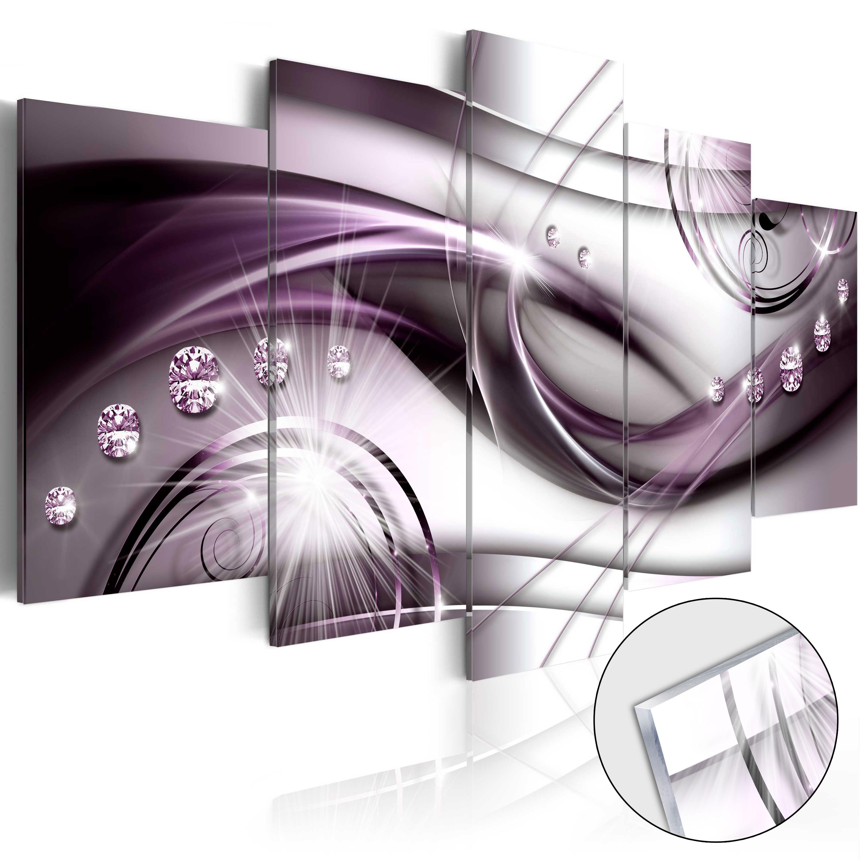 Quadri su vetro acrilico - Violet Glow [Glass] 200X100 cm