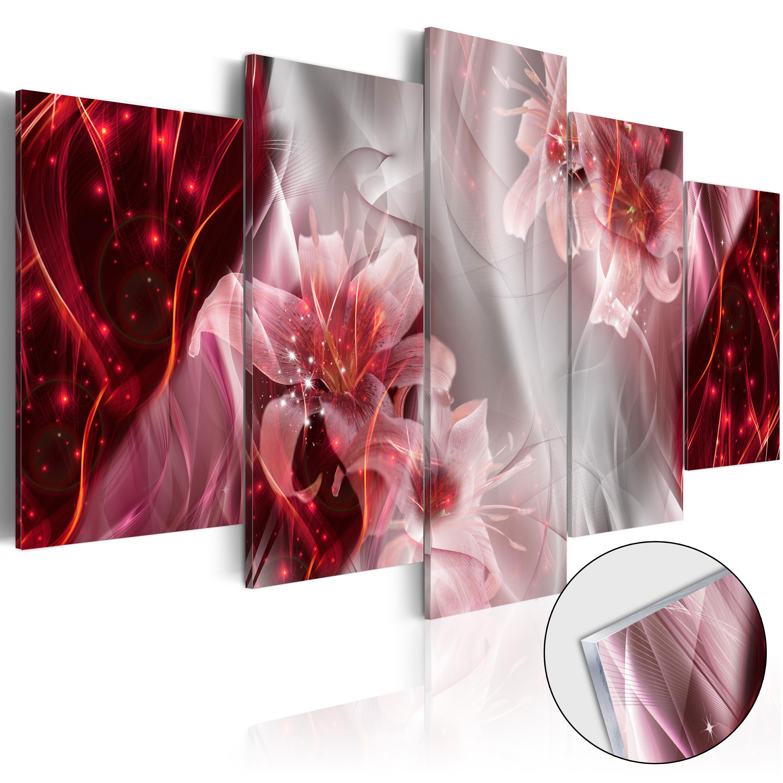 Quadri su vetro acrilico - Incarnadine Comet [Glass] 200X100 cm