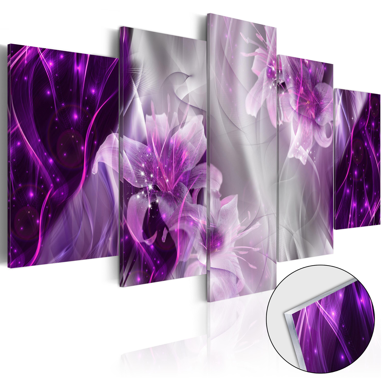 Quadri su vetro acrilico - Purple Utopia [Glass] 200X100 cm