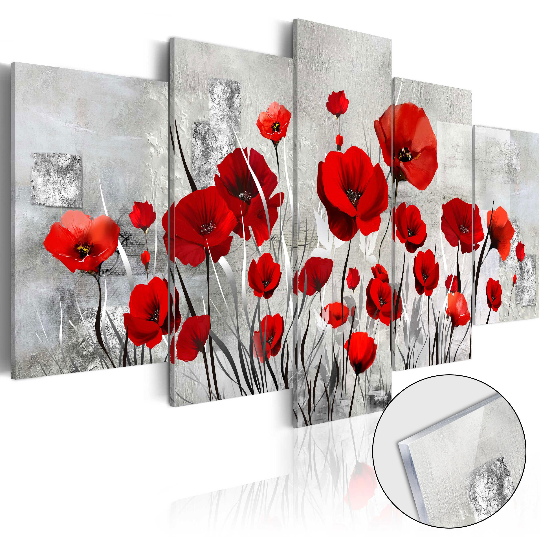 Quadri su vetro acrilico - Scarlet Cloud [Glass] 100X50 cm