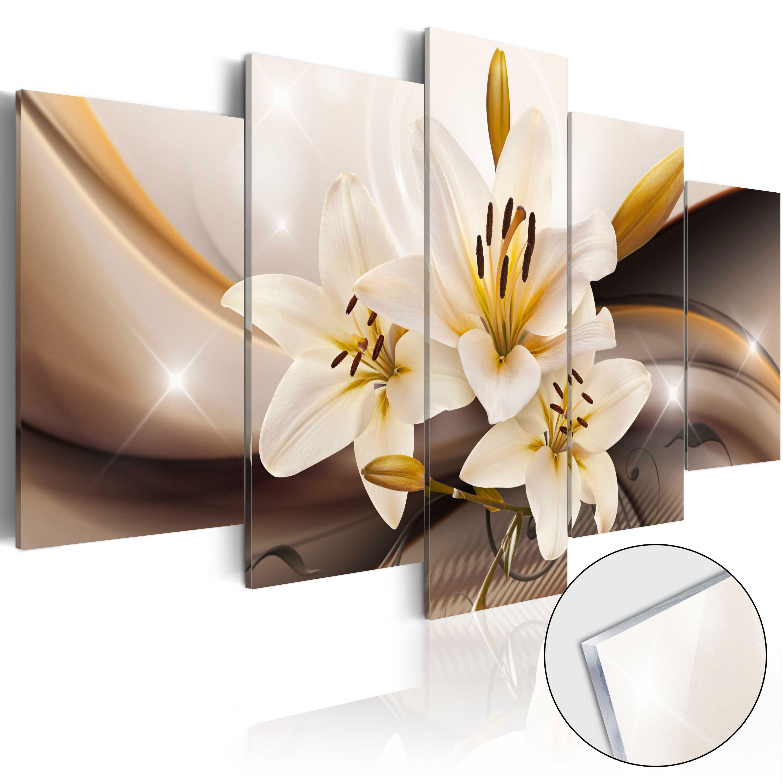 Quadri su vetro acrilico - Shiny Lily [Glass] 100X50 cm