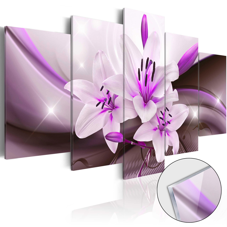 Quadri su vetro acrilico - Violet Desert Lily [Glass] 100X50 cm