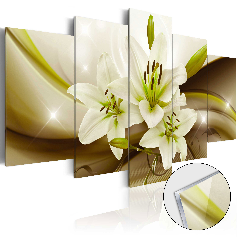 Quadri su vetro acrilico - Modern Lily [Glass] 100X50 cm